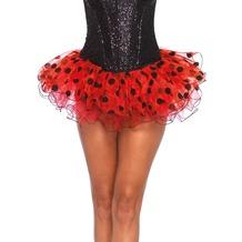 Leg Avenue Chiffon polka dot tutu red & black one size