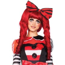 Leg Avenue Dolly bob wig with clips red one size