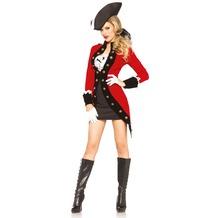 Leg Avenue Rebel Pirate Red Coat red & black 40
