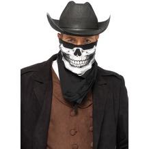 Leg Avenue Skull Bandana BLACK/WHITE one size