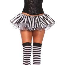 Leg Avenue Striped satin and chiffon tutu black & white one size