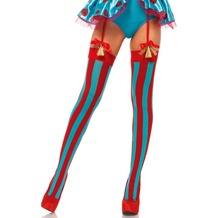 Leg Avenue Thigh Highs Vertical Stripes red/blue one size