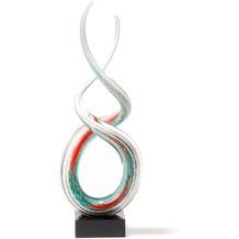 Leonardo Skulptur Rotate 38 cm weiß/türkis