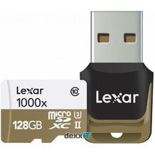 Lexar microSDHC - 1000x - 128GB - UHS-II mit USB 3.0 Lesegerät