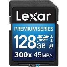 Lexar SDXC Card Premium II - 128GB - 300x - Class 10 - UHS-I