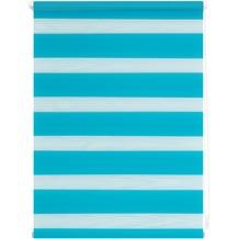 Lichtblick Duo-Rollo Klemmfix, ohne Bohren  Blau Breite: 100 cm, Länge: 150 cm