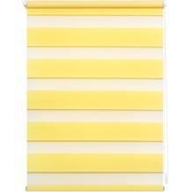Lichtblick Duo-Rollo Klemmfix, ohne Bohren  Gelb Breite: 100 cm, Länge: 150 cm