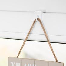 Lichtblick Fensterhaken für Dekoration, Klemmfix, ohne Bohren  Weiß