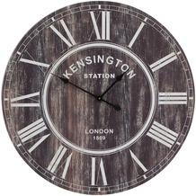 Light & Living Uhr Ø80 cm KENSINGTON Holz braun