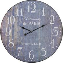 Light & Living Uhr Ø80 cm PARIS blau holz