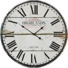 Light & Living Uhr SCOTTISH HIGHLANDS Holz weiß