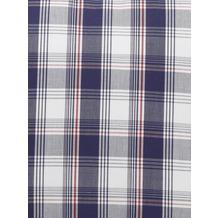 Livingston Batist-Bettbezug + Kissenbezug mit Längsnaht und Knopfverschluss, blau-weiß-rot kariert 200x200cm + 80x80cm