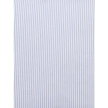 Livingston Batist-Bettbezug + Kissenbezug mit Längsnaht und Reißverschluss, blau-weiß gestreift 200x200cm + 80x80cm