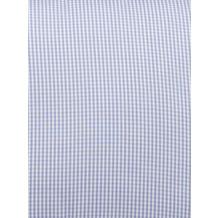 Livingston Batist-Bettbezug + Kissenbezug mit Längsnaht und Knopfverschluss, blau-weiß kariert 200x200cm + 80x80cm