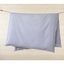 Livingston Batist-Bettwäsche-Garnitur mit Knopfverschluss, blau-weiß gestreift 135x200cm + 80x80cm + 2 x 35x40cm