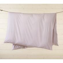 Livingston Batist-Bettwäsche-Garnitur mit Knopfverschluss, rosa-weiß kariert 135x200cm + 80x80cm + 2 x 35x40cm