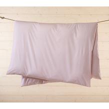 Livingston Batist-Bettwäsche-Garnitur mit Reißverschluss, rosa-weiß kariert 135x200cm + 80x80cm + 2 x 35x40cm