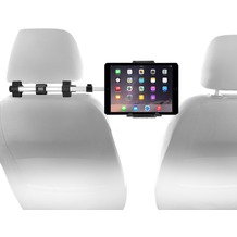 """Macally HRMOUNTPRO, Kopfstützen Autohalterung für alle iPad & Tablet PCs bis 8"""" Breite"""