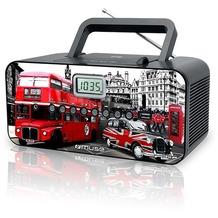 muse M-28 portables Radio mit CD/MP3 Player und USB, London-Edition
