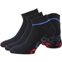 NC56 unisex basic sneaker socks 3er black, 35-38