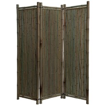 NOOR Bambus-Paravent Black Edition ca. Größe (HxB) 180 x 180 cm 3-teilig