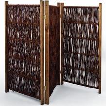 NOOR Weiden-Paravent ca. Größe (HxB) 120 x 240 cm 4-teilig