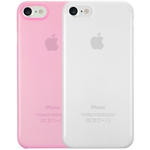 Ozaki O!Coat 0.3 Jelly Case 2 in 1 Set - Apple iPhone 7 - transparent & pink