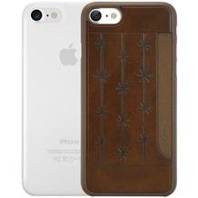 Ozaki O!Coat 0.3 Jelly + Pocket Case - Apple iPhone 7 - braun & transparent
