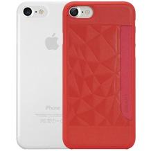 Ozaki O!Coat 0.3 Jelly + Pocket Case - Apple iPhone 7 - rot & transparent