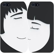 Ozaki O!Coat Lover+ für iPhone 5/5S/SE, schwarz-weiß