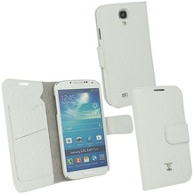 OZBO Ledertasche Piega Diary - weiß - für Samsung Galaxy S4