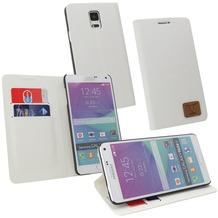 OZBO PU Tasche Diary Slim - weiß - für Samsung Galaxy Note 4