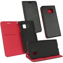 OZBO PU Tasche Diary Supra - schwarz/rot - für Samsung Galaxy S7