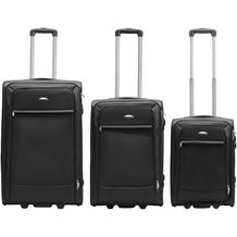 Packenger Lite Business Textilkoffer 3er-Set, Schwarz