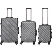 Packenger Vertical Business Koffer 3er-Set, Anthrazit