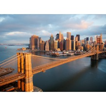 papermoon Fototapete selbstklebend 8 Teile Brooklyn Bridge Morning - NQ 272 x 198 cm