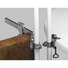 PAULI Balkon-Schirmklammer, silber, verzinkte Ausführung, Stockhalter 19 - 30 mm