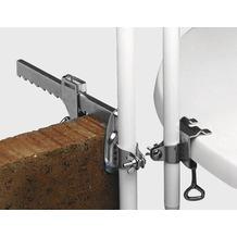 PAULI Tisch-Schirmklammer, silber, verzinkte Ausführung, Stockhalter 19 - 30 mm