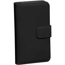 Pedea Echtleder Book Cover für Galaxy S8+, schwarz