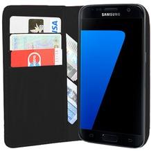 Pedea Echtleder BookCover für Samsung Galaxy S7, schwarz