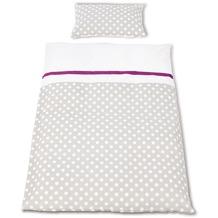 Pinolino Bett- und Kopfkissenbezug für Kinderbetten Punkte