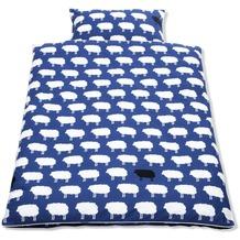 Pinolino Bett- und Kopfkissenbezug für Kinderbetten Happy Sheep blau