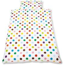 Pinolino Bett- und Kopfkissenbezug für Kinderbetten Dots bunt