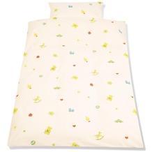 Pinolino Bett- und Kopfkissenbezug für Kinderbetten Pinos Spielwelt vanille