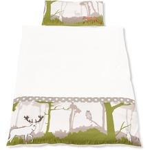 Pinolino Bett- und Kopfkissenbezug für Kinderbetten, weiß 135x100cm + 40x60cm
