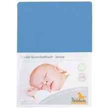 Pinolino Spannbetttuch für Kinderbetten Uni blau