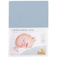 Pinolino Spannbetttuch für Kinderbetten Uni hellblau