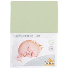 Pinolino Spannbetttuch für Kinderbetten Uni lemon