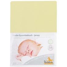 Pinolino Spannbetttuch für Kinderbetten Uni gelb