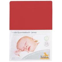 Pinolino Spannbetttuch für Kinderbetten Uni orange